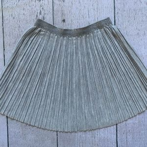 Silver skirt for toddler girl